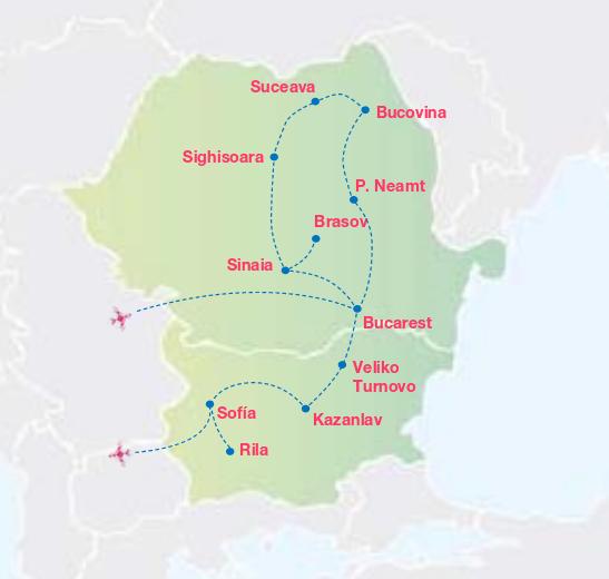 RUMANÍA, TRANSILVANIA Y  BULGARIA