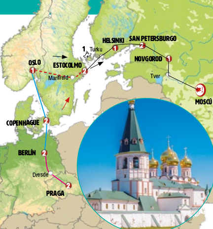 Rússia e Escandinávia fim Praga