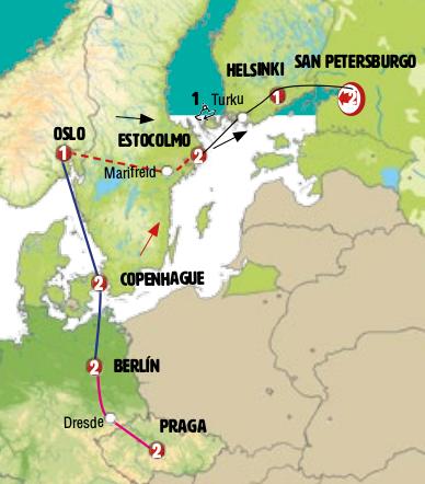 São Petersburgo e Escandinávia