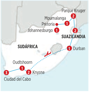 GRAN SUDÁFRICA 14 dias desde  JOHANNESBURGO