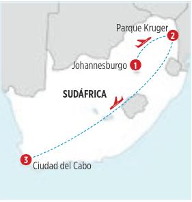 GRAN TOUR AVENTURAS DE SUDAFRICA Y RESERVAS PRIVADAS DE 7 DIAS 6 OCHES, SALIENDO DESDE JOHANNESBUGO DIARIAMENTE