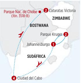GRAN CIRCUITO SUDÁFRICA Y CATARATAS VICTORIA (ZIMBABWE) 10 DIAS DESDE JOHANNESBURGO