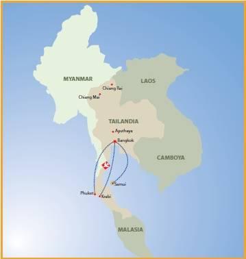 Circuito de 10 dias O melhor da Tailândia com Samui, saídas terças de Março a Outubro