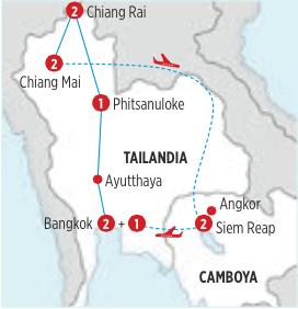 MARAVILLOSOS TEMPLOS DE TAILANDIA Y CAMBOYA, RECORRIDO DE 11 DIAS 10 NOCHES, SALIENDO DESDE BANGKOK JUEVES Y VIERNES