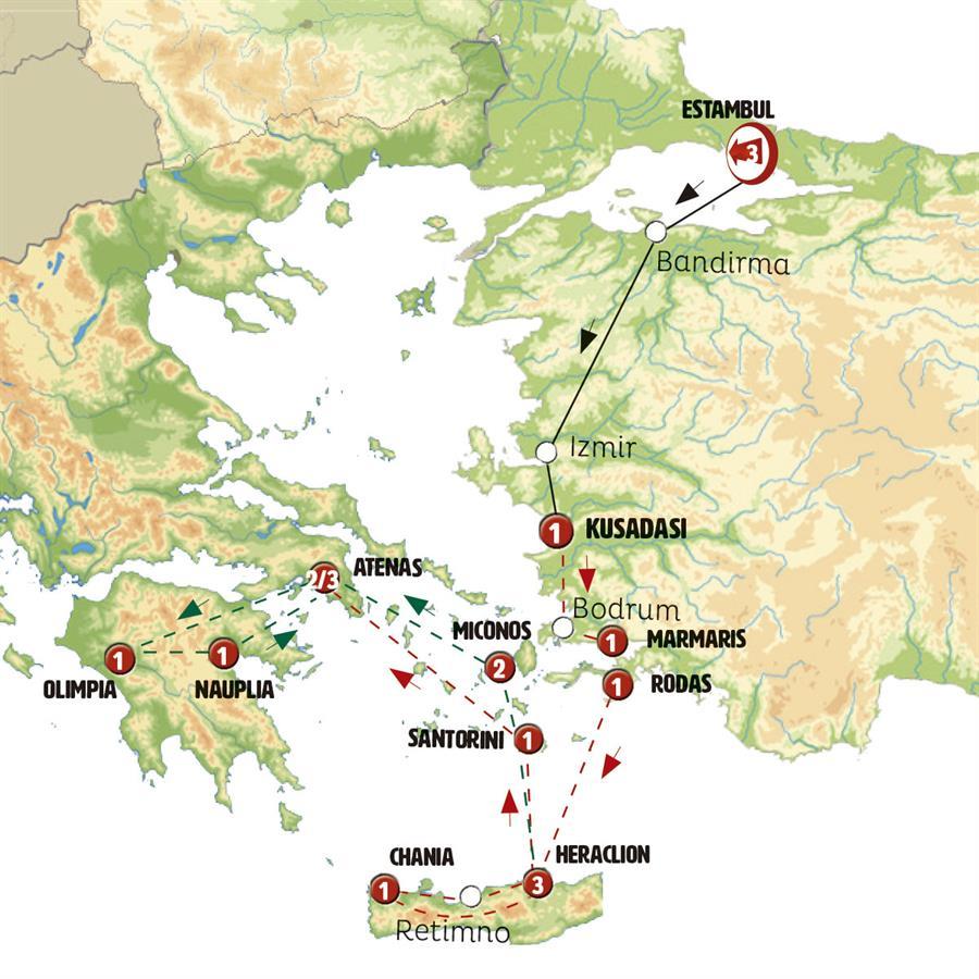 De Estambul a Atenas