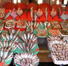 Puestos de pescado Estambul