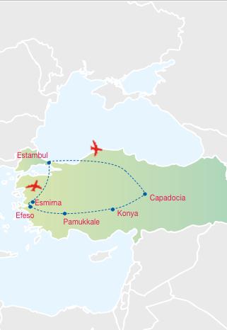 Gran Tour de11 días inicio y fin en Estambul LO MEJOR DE TURQUÍA salida los Domingos